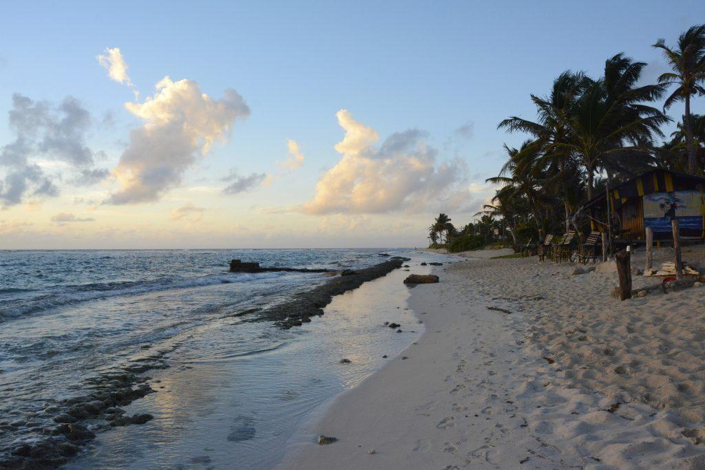 beach in columbia at sunrise