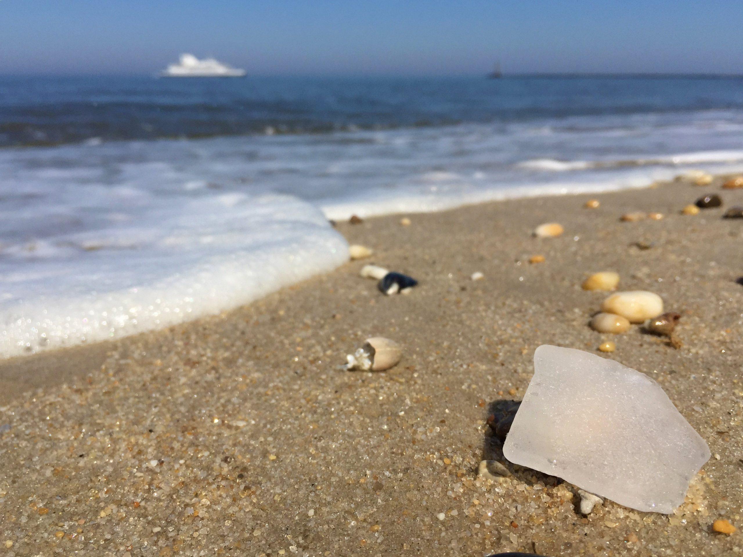 sea glass on beach
