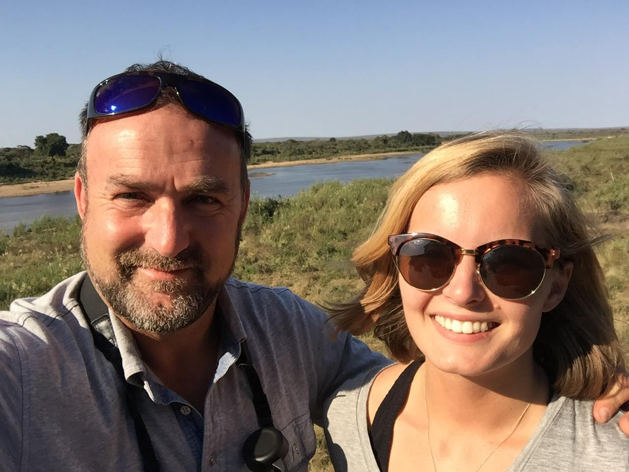 dad and i in africa