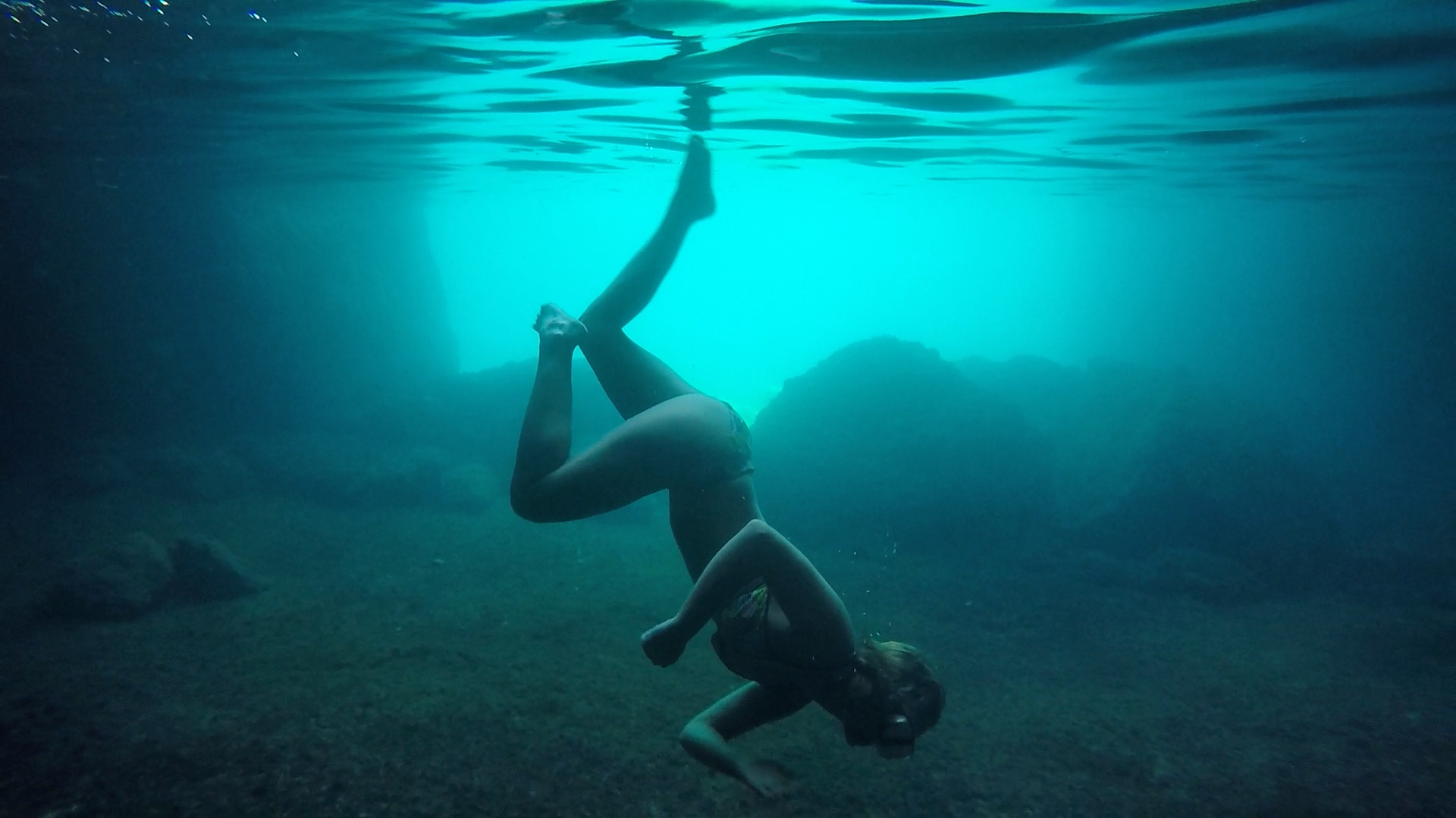 swimming in greece