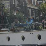 smoking cigarette on boat