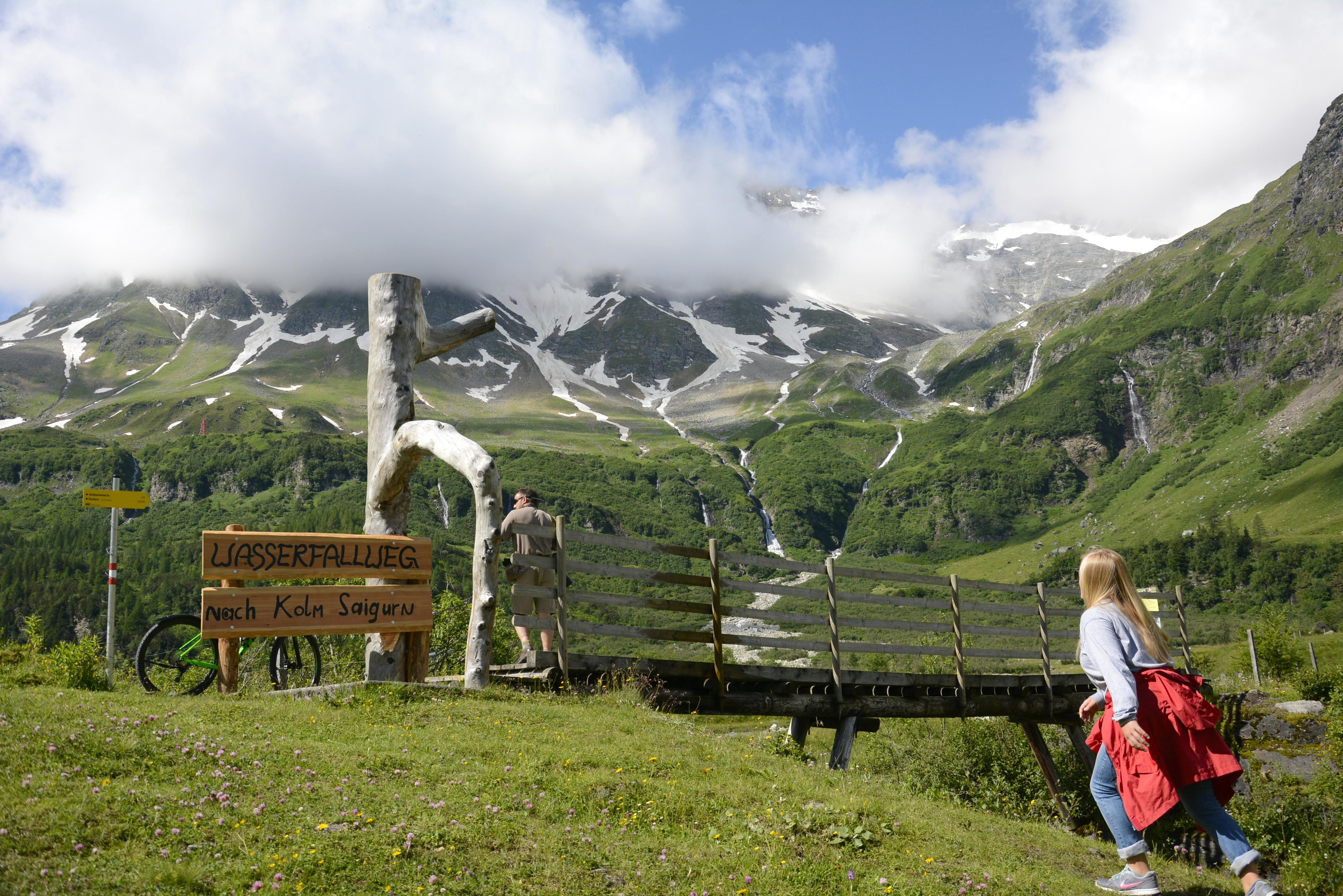 climbing in austrian mountains