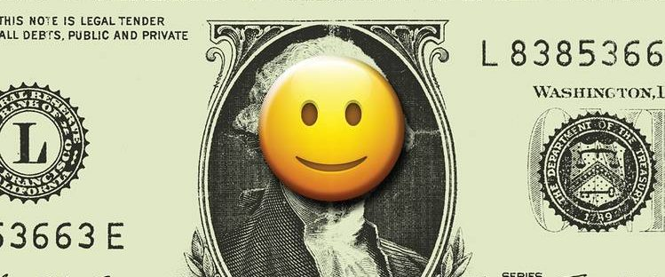 money with smiley face