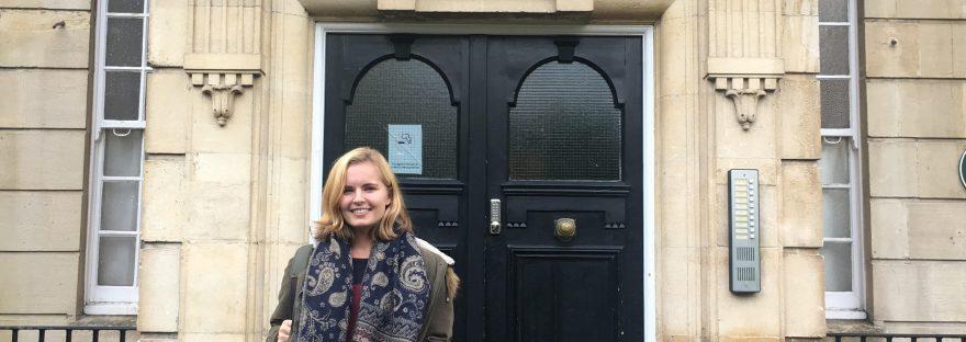 standing at a doorway in bristol