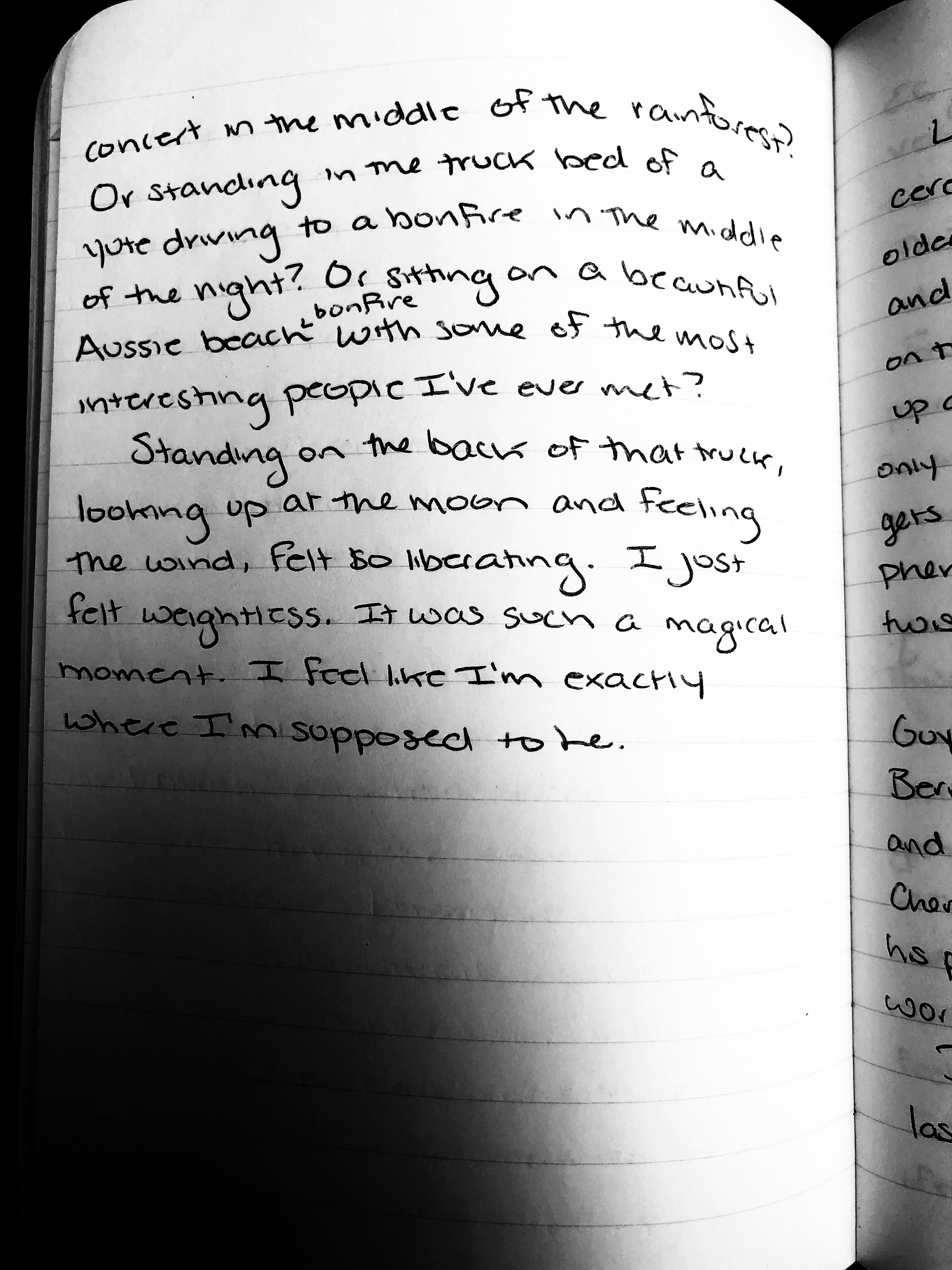 picture of a journal entry from august 18