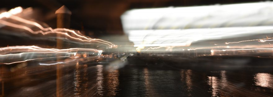 images of a light blurred at night
